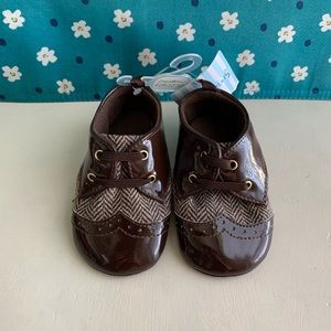 Stepping Stones Infant Baby 9-12m Brown Soft Shoes